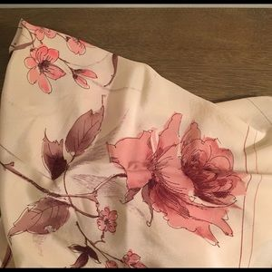 "Vintage Large Pure Silk Scarf Paris 34"" Square"